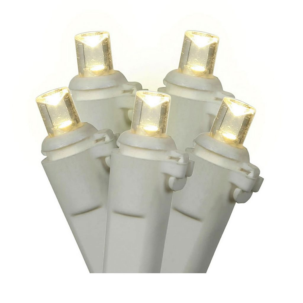 Vickerman 70 Light Warm White Wide Angle LED Icicle Christmas Lights