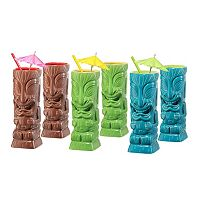 OGGI 6 pc Tiki Glass Set