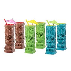 OGGI 6-pc. Tiki Glass Set