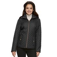 Women's Croft & Barrow¨ Hooded Quilted Trapunto Jacket
