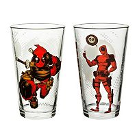 Marvel Universe Deadpool 2-pc. Pint Glass Set by Zak Designs