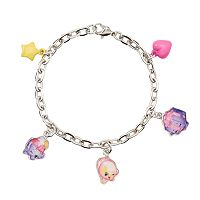Girls Shopkins Ice Cream Queen, June Balloon & Miss Pressy Charm Bracelet