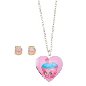 Girls Shopkins 2-pk.Wishes & Cupcake Chic Locket Necklace & Earrings Set