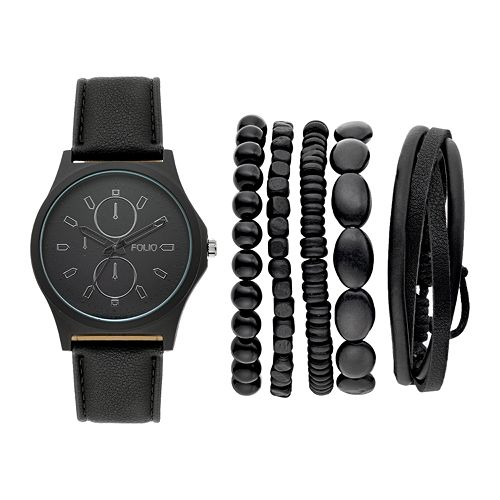Folio Men's Watch & Bracelet Set