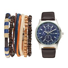Folio Men's Watch & Bracelet Set