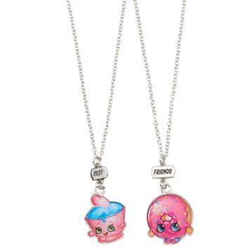 Girls Shopkins 2-pk. Best Friends BFF Cupcake Chic & D'Lish Donut Necklace Set
