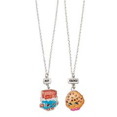 Girls Shopkins 2 pkBest Friends BFF Cheeky Chocolate & Kooky Cookie Necklace Set