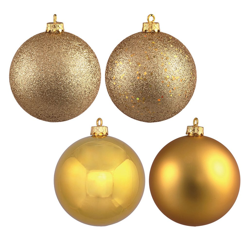 Vickerman 4-Finish Ball Christmas Ornament 12-piece Set