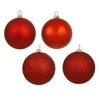 Vickerman 4-Finish Ball Christmas Ornament 12-piece Set
