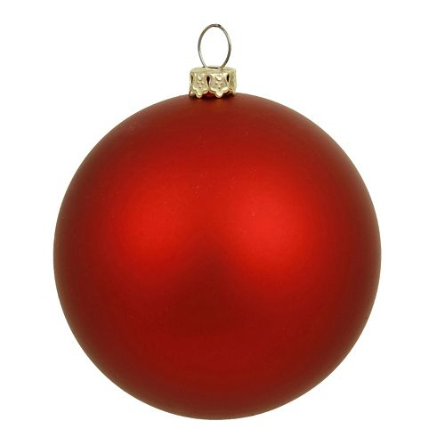 Vickerman Matte Ball Christmas Ornament 4-piece Set