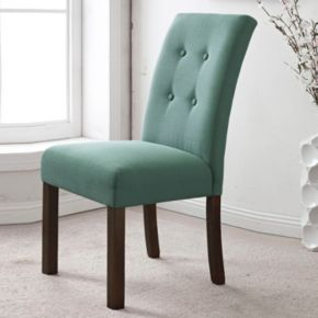 HomePop Button Tufted Parsons Dining Chair 2-piece Set