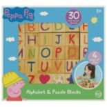 Peppa Pig 30-pc. Wooden Alphabet & Puzzle Blocks