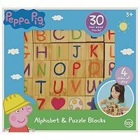 Peppa Pig 30-pc. Wooden Alphabet & Puzzle Blocks