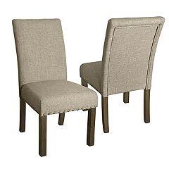 HomePop Nailhead Parsons Dining Chair 2 pc Set
