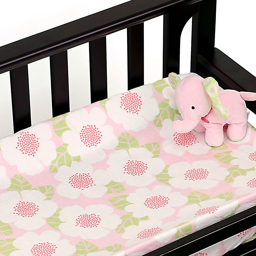 Nurture Garden District Plush Blanket and Changing Pad Cover Nursery Set