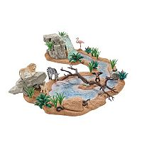 Schleich Wild Life 44-pc. Big Adventure At The Waterhole Safari Set