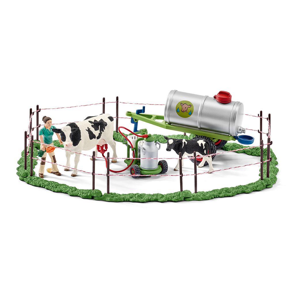 Farm World Cow Family on the Pasture Figure Set by Schleich