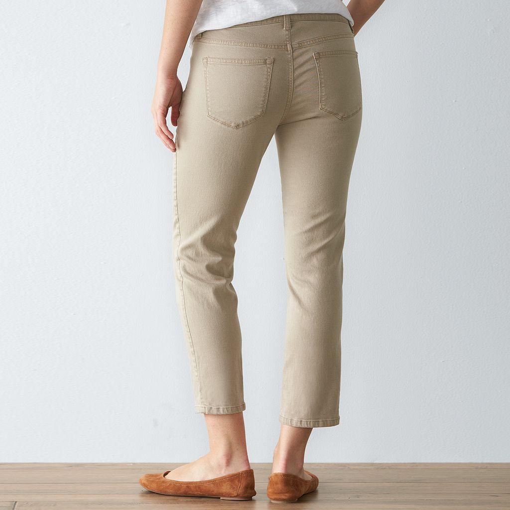 Women's SONOMA Goods for Life™ Twill Skinny Capris