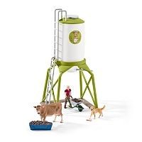 Farm World Feed Silo with Animals Figure Set by Schleich