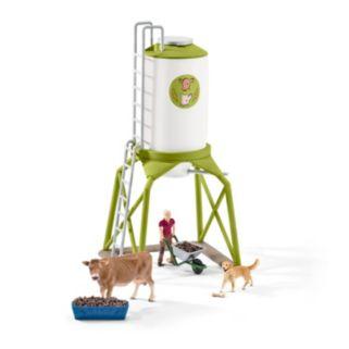 Farm World Feed Silo with Animals Figure Set by Schleich