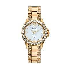 burgi Women's Diamond & Crystal Watch