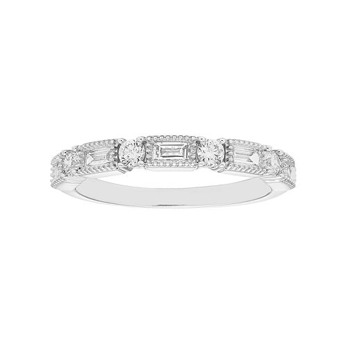 14k White Gold 3/8 Carat T.W. Diamond Fashion Ring