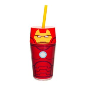 Marvel Retro Iron Man 14-oz. Straw Tumbler by Zak Designs
