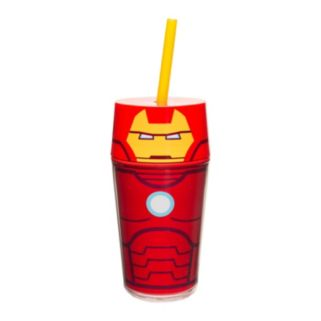 Marvel Retro Iron Man 14-oz. Straw Tumbler by Zak Designs