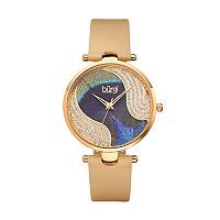 burgi Women's Crystal Leather Swiss Watch