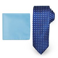 Steve Harvey Natte Woven Tie & Solid Pocket Square