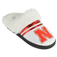 Women's Nebraska Cornhuskers Plush Slippers