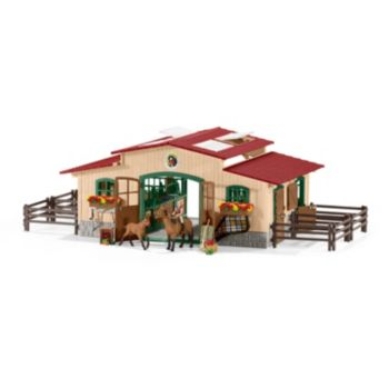 Farm World Stable with Horses Figure Set by Schleich