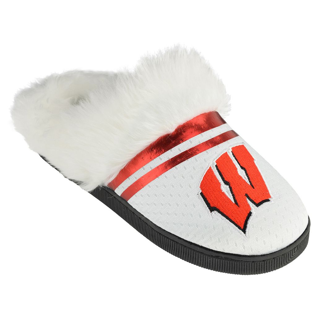 Women's Wisconsin Badgers Plush Slippers