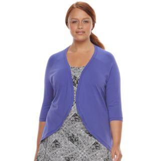 Plus Size Soybu Crosstown Open-Front Yoga Cardigan