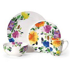 Kim Parker Provence Garden 16 pc Dinnerware Set
