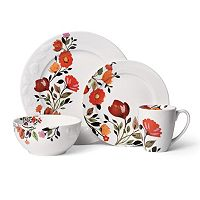 Kim Parker Tulips 16 pc Dinnerware Set