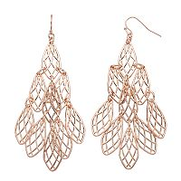Jennifer Lopez Lattice Oblong Nickel Free Kite Earrings
