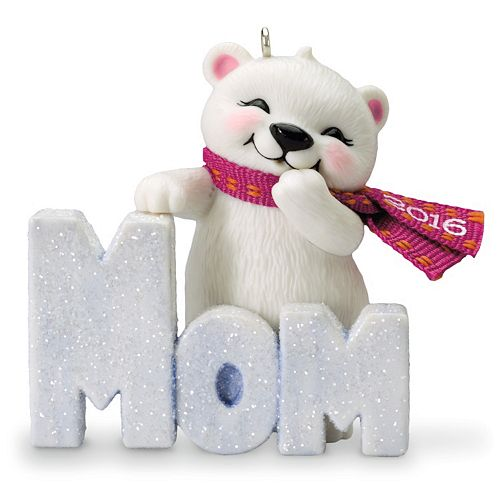 """""""Mom"""" 2016 Hallmark Keepsake Christmas Ornament"""