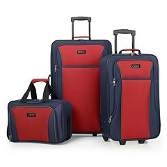 Chaps Brentwood Hall 3 pc Wheeled Luggage Set