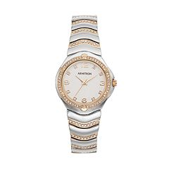Armitron Women's Crystal Two Tone Watch - 75/5431WTTT