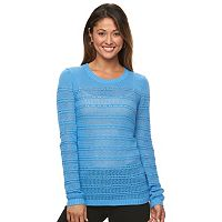Women's Caribbean Joe Pointelle Crewneck Sweater