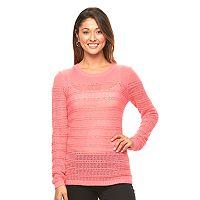 Women's Caribbean Joe Pointelle Crewneck Sweater