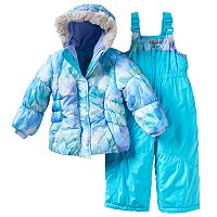 Toddler Girl ZeroXposur Beatrice Jacket & Bib Snow Pants Snowsuit Set