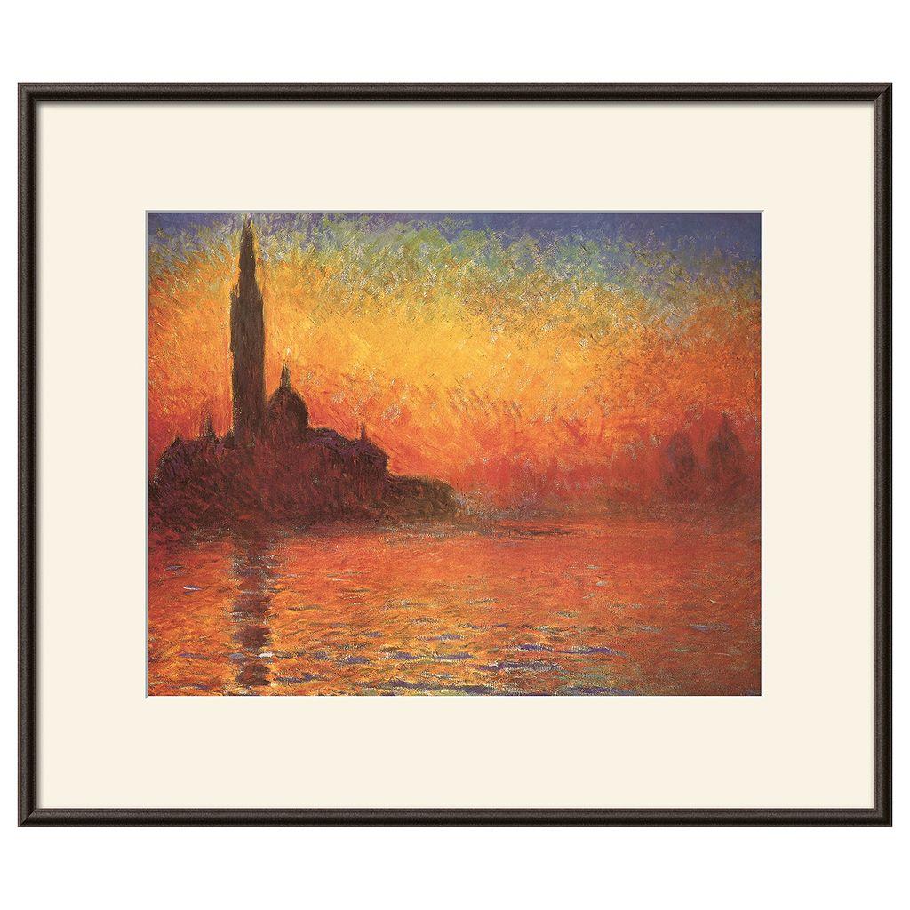 Art.com San Giorgio Maggiore by Twilight Framed Wall Art by Claude Monet