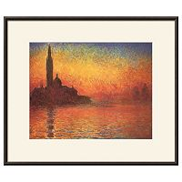 Art.com San Giorgio Maggiore by Twilight Framed Wall Art by Claude Monet