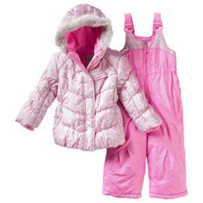 Toddler Girl ZeroXposur Kitty Jacket & Bib Snow Pants Snowsuit Set