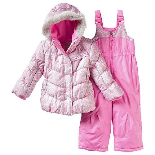 e67011e1a Toddler Girl ZeroXposur Kitty Jacket   Bib Snow Pants Snowsuit Set