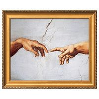 Art.com Creation of Adam Detail Framed Wall Art