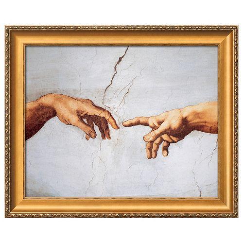 Art.com Creation of Adam Detail Framed Wall Art