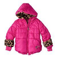 Toddler Girl ZeroXposur Heavyweight Faux-Fur Animal Print Detailed Coat